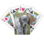 Adorable Black and White English Setter Bicycle Playing Cards