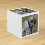 Adorable Black and White English Setter Favor Box