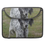 Adorable Black and White English Setter MacBook Pro Sleeve