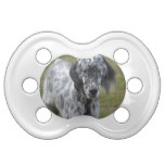 Adorable Black and White English Setter Pacifier