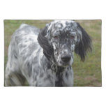Adorable Black and White English Setter Placemat