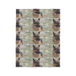Adorable German Shepherd Fleece Blanket