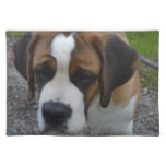 Adorable St Bernard Cloth Placemat