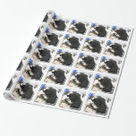 Black and White Cocker Spaniel Wrapping Paper