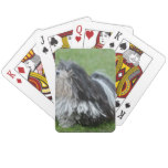 Black and White Puli Dog Playing Cards