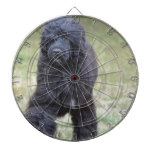 Black Portuguese Water Dog Dartboard With Darts