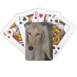 Blonde Saluki Dog Playing Cards