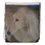 Blonde Saluki Drawstring Backpack