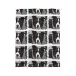 Border Collie Dog Fleece Blanket