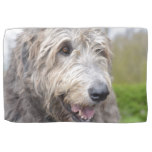 Cute Irish Wolfhound Kitchen Towel