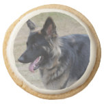 Cute Shiloh Shepherd Round Shortbread Cookie