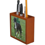 Cute Whippet Desk Organizer