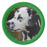 Dalmatian with Spots Poker Chips Set
