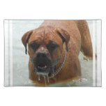 Drooling Bordeaux Mastiff Placemat