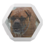 Drooling Bordeaux Mastiff White Bluetooth Speaker
