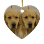 Golden Retriever Dog Twins Ornament