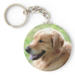 Golden Retriever Pup Keychain