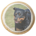 Guileless Rottweiler Round Shortbread Cookie