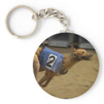 Racing Greyhound Keychain