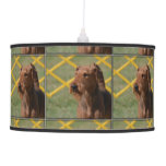 Really Cute Airedale Terrier Ceiling Lamp