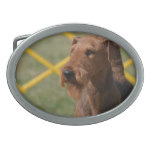Really Cute Airedale Terrier Oval Belt Buckle