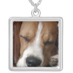 Sleeping Beagle Necklace