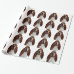 Sweet Basset Hound Dog Wrapping Paper