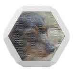 Wire Haired Daschund Dog White Bluetooth Speaker